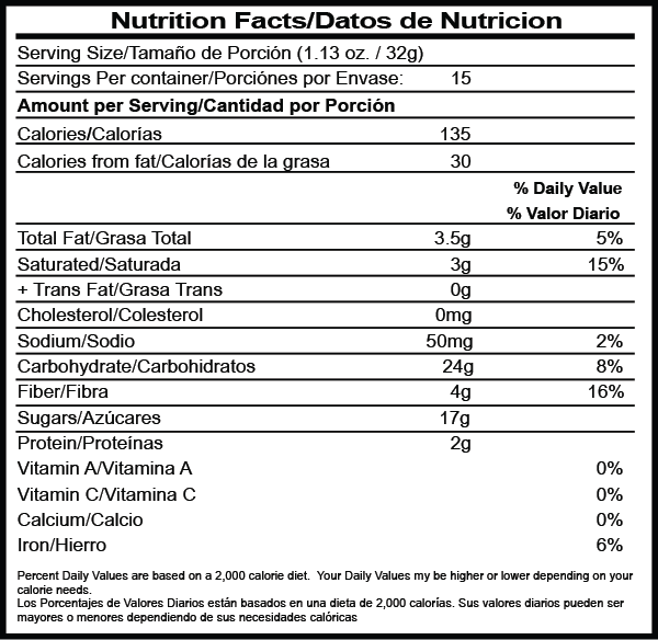 Hot Chocolate nutrition facts